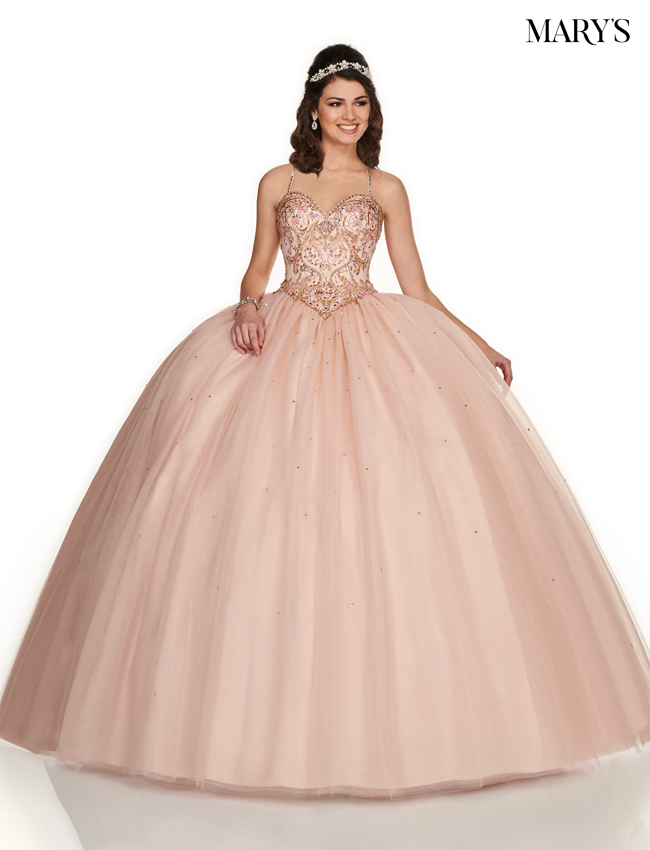 Blush Color Marys Quinceanera Dresses - Style - MQ1054