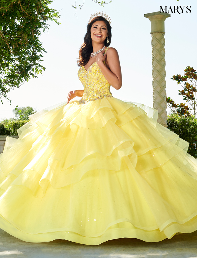 Powder Blue Color Marys Quinceanera Dresses - Style - MQ1058