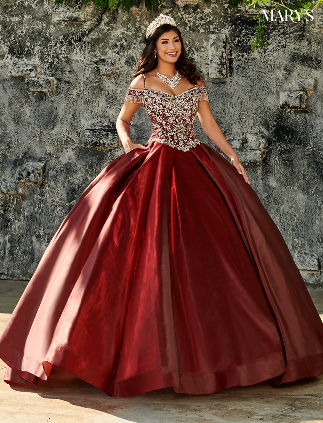 Pink Color Marys Quinceanera Dresses - Style - MQ1059