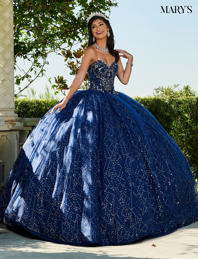 Burgundy Color Marys Quinceanera Dresses - Style - MQ1060
