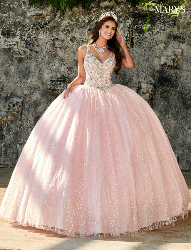 Blush Color Marys Quinceanera Dresses - Style - MQ1061