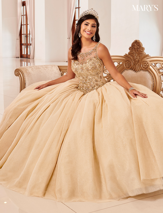 Burgundy Color Marys Quinceanera Dresses - Style - MQ1062
