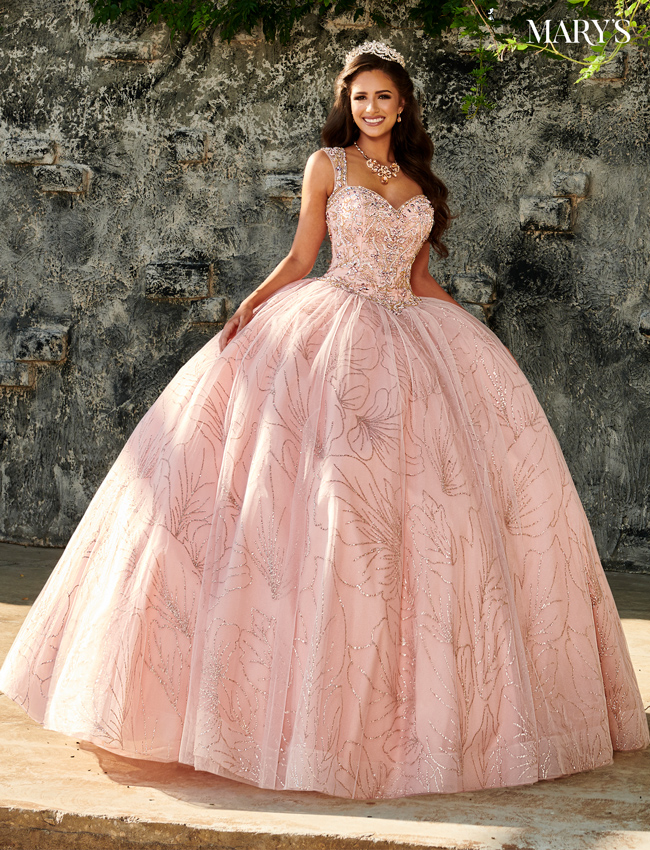 Blush Color Marys Quinceanera Dresses - Style - MQ1063