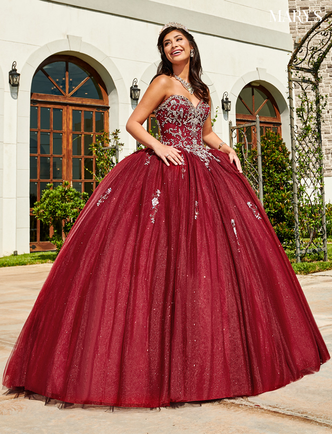 Champagne Color Marys Quinceanera Dresses - Style - MQ1064