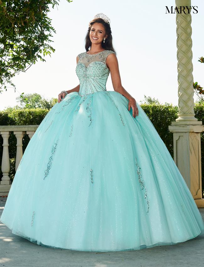Aqua Color Marys Quinceanera Dresses - Style - MQ1066