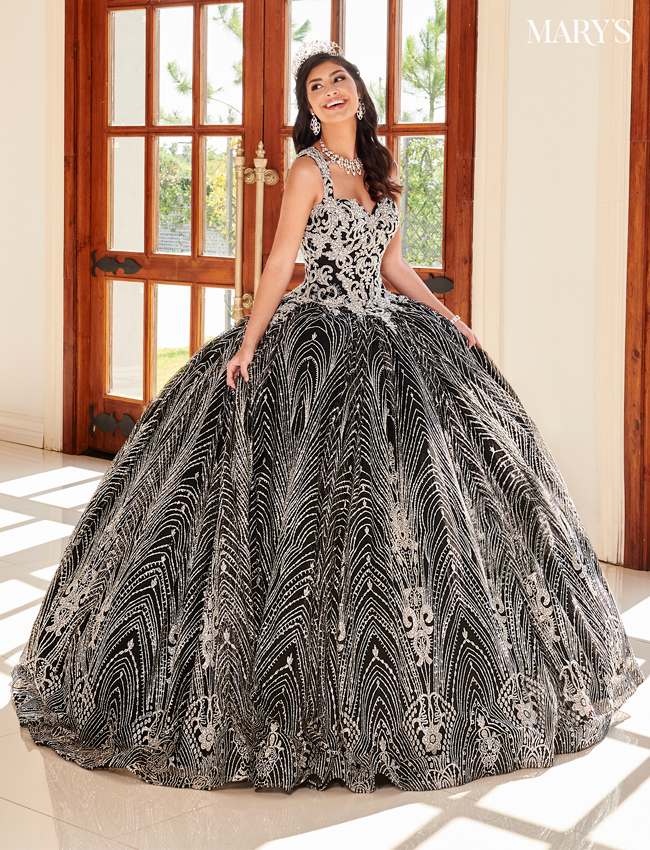 Black Color Marys Quinceanera Dresses - Style - MQ1067