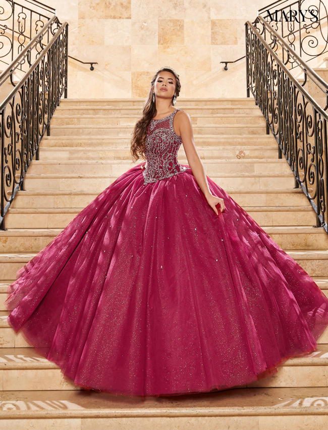 Soft Turquoise Color Carmina Quinceanera Dresses - Style - MQ1070