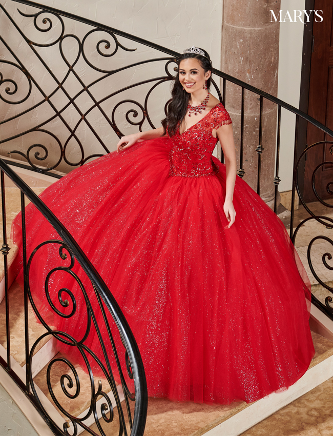 Red Color Carmina Quinceanera Dresses - Style - MQ1074