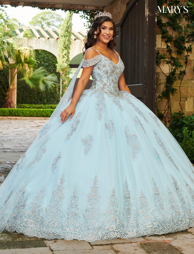 Light Blue Color Carmina Quinceanera Dresses - Style - MQ1078