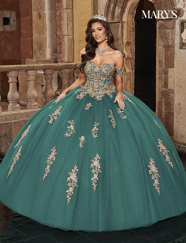 Jade Color Carmina Quinceanera Dresses - Style - MQ1080