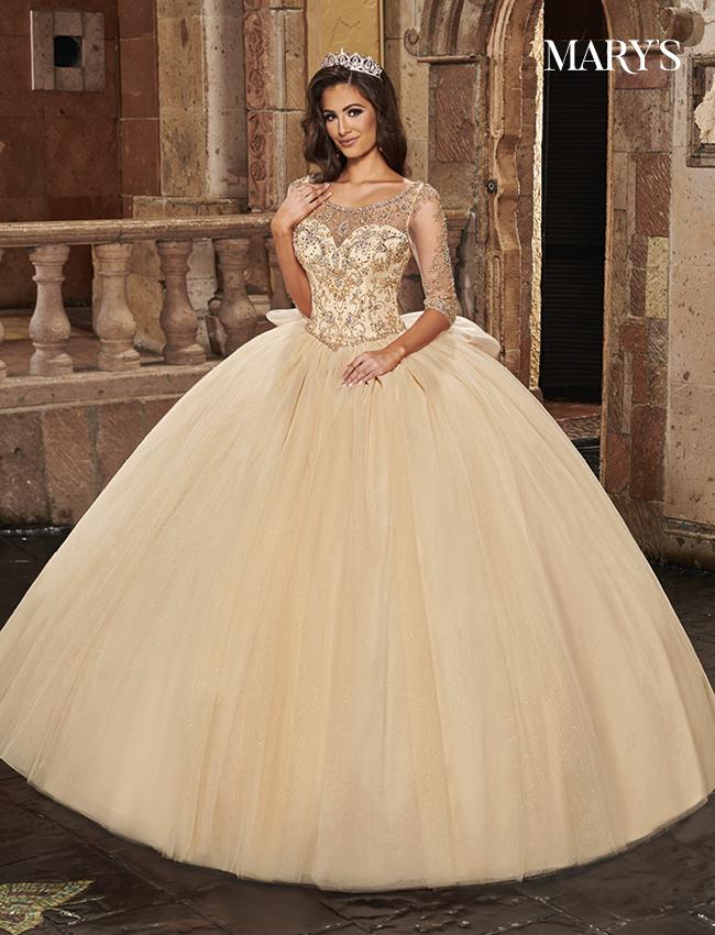 Champagne Color Carmina Quinceanera Dresses - Style - MQ1082
