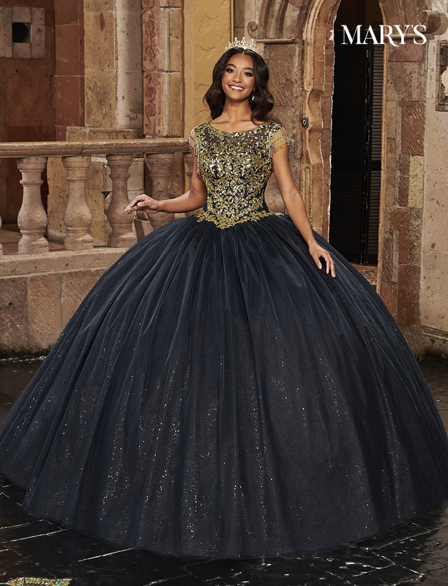 Dark Navy Color Carmina Quinceanera Dresses - Style - MQ1085
