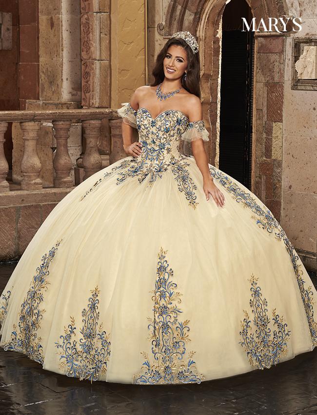 Champagne Color Carmina Quinceanera Dresses - Style - MQ1087