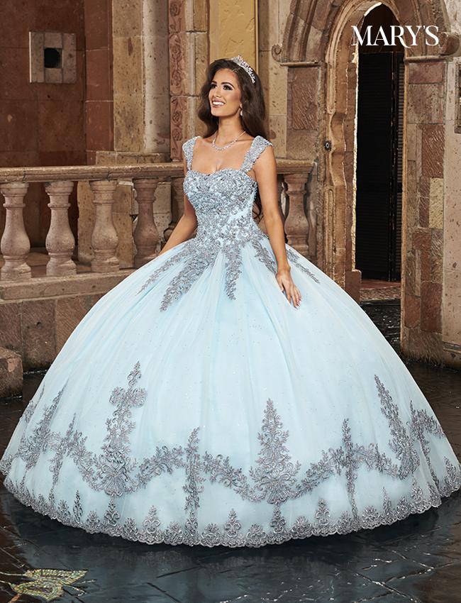 Light Blue Color Carmina Quinceanera Dresses - Style - MQ1090