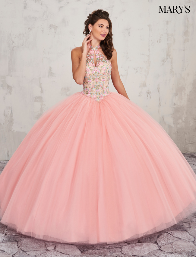 Pink Color Marys Quinceanera Dresses - Style - MQ2008