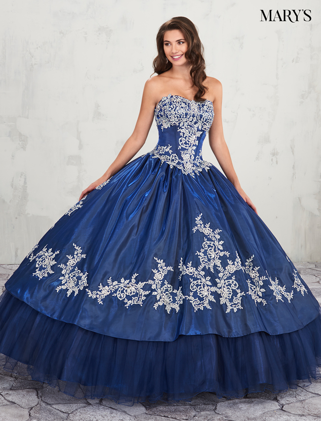 Dark Navy Color Marys Quinceanera Dresses - Style - MQ2013