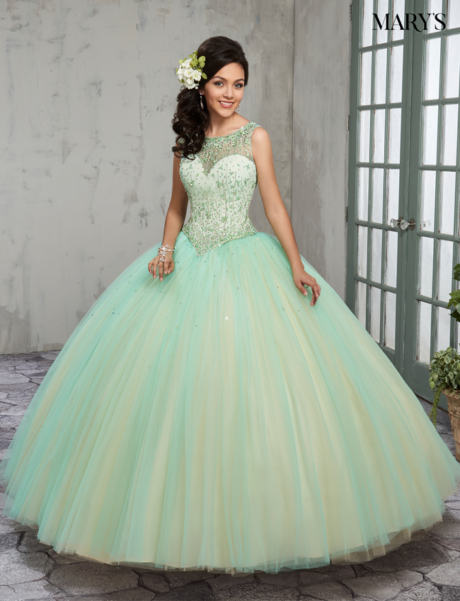 Mint Color Marys Quinceanera Dresses - Style - MQ2014