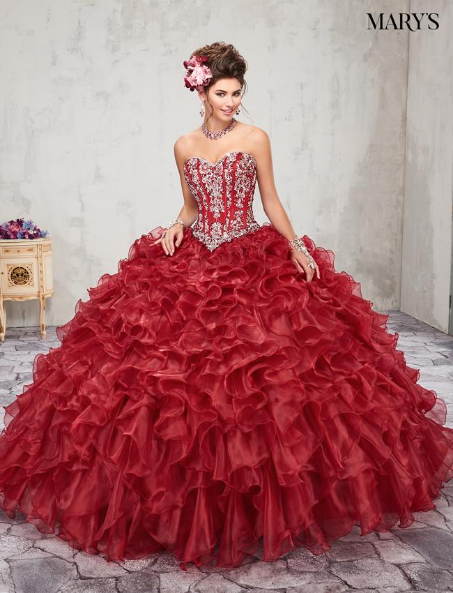 Dark Red Color Lareina Quinceanera Dresses - Style - MQ2017