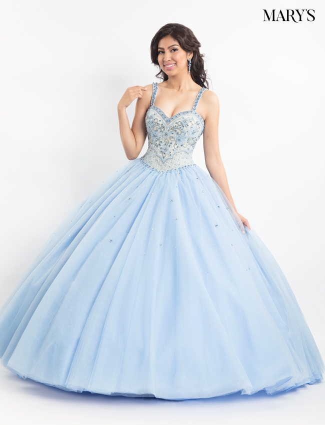 Light Blue Color Marys Quinceanera Dresses - Style - MQ2020
