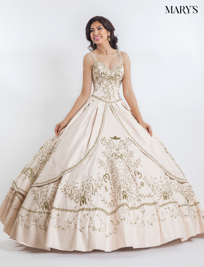Ivory Color Marys Quinceanera Dresses - Style - MQ2022