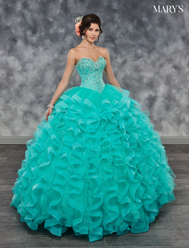 Champagne Color Marys Quinceanera Dresses - Style - MQ2030