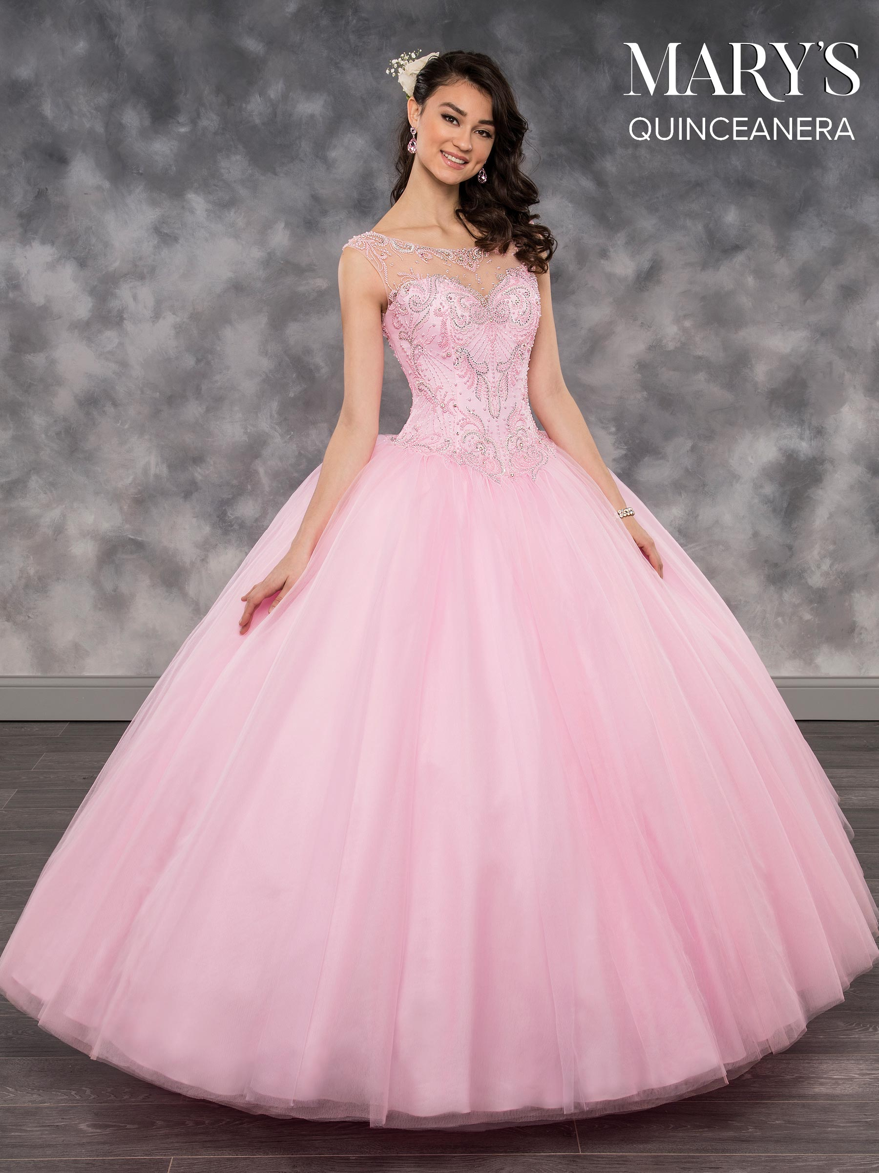 Marys Quinceanera Dresses | Style - MQ2033 in Mermaid, Navy, Pink ...
