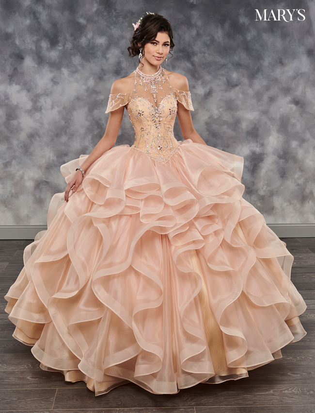 Cerise Color Marys Quinceanera Dresses - Style - MQ2034