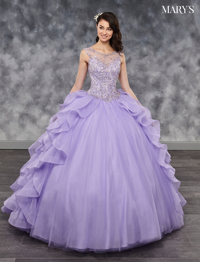 Deep Blush Color Lareina Quinceanera Dresses - Style - MQ2035