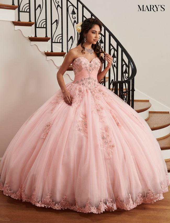 Blush Color Marys Quinceanera Dresses - Style - MQ2036