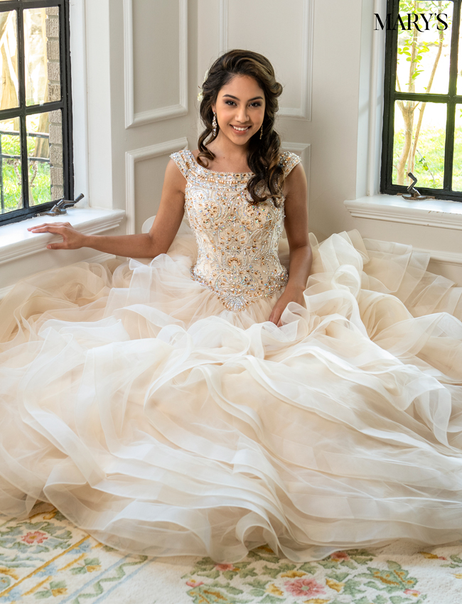 Deep Blush Color Lareina Quinceanera Dresses - Style - MQ2037