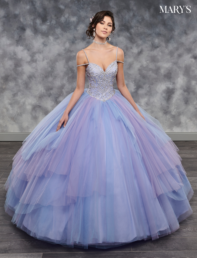 Cotton Candy Color Marys Quinceanera Dresses - Style - MQ2038