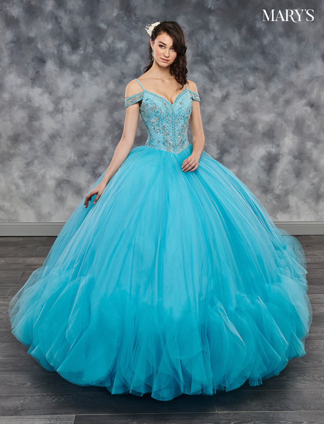 Champagne Color Marys Quinceanera Dresses - Style - MQ2041