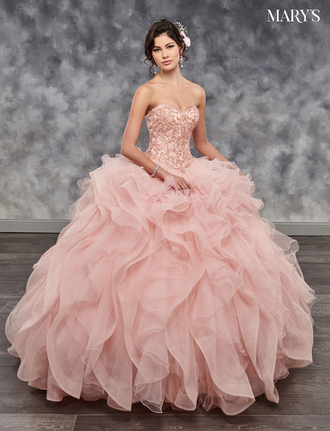 Deep Blush Color Lareina Quinceanera Dresses - Style - MQ2042
