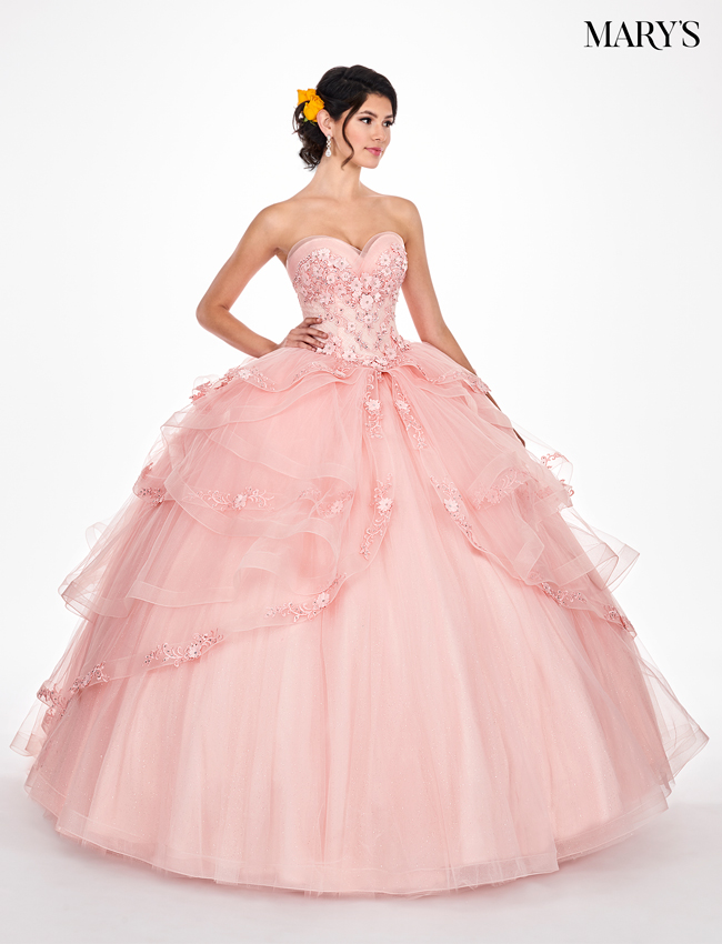 Deep Blush Color Lareina Quinceanera Dresses - Style - MQ2046