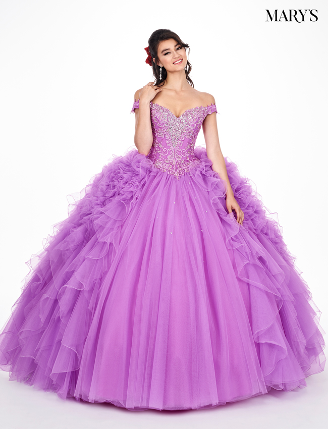 Violet Color Marys Quinceanera Dresses - Style - MQ2048