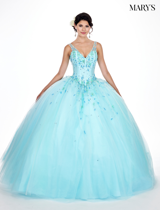 Aqua Color Marys Quinceanera Dresses - Style - MQ2052