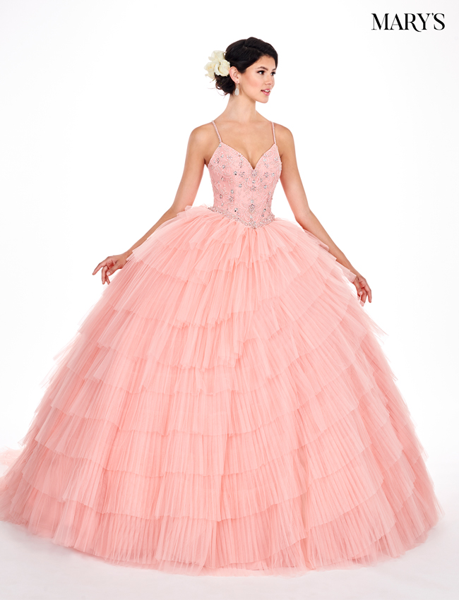 Rum-pink Color Marys Quinceanera Dresses - Style - MQ2055