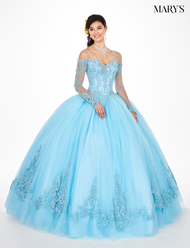 7b05b05b194 Baby Blue Color Marys Quinceanera Dresses - Style - MQ2060