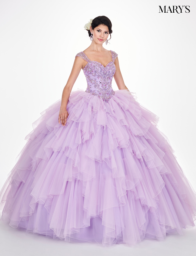 Light Jade Color Marys Quinceanera Dresses - Style - MQ2061