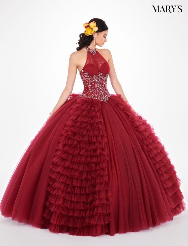 Burgundy Color Marys Quinceanera Dresses - Style - MQ2063