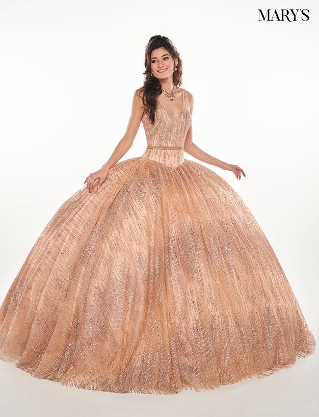 Rose Gold Color Marys Quinceanera Dresses - Style - MQ2072