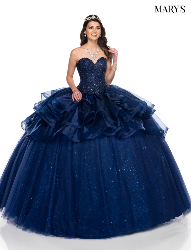 Navy Color Marys Quinceanera Dresses - Style - MQ2073