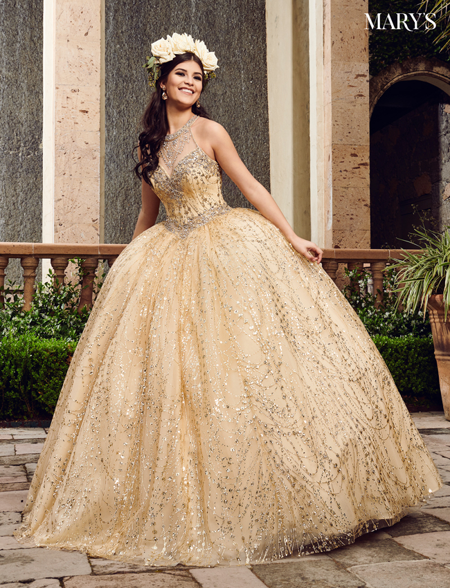 Navy Color Marys Quinceanera Dresses - Style - MQ2076