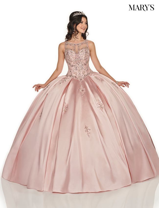 Blush Color Marys Quinceanera Dresses - Style - MQ2078