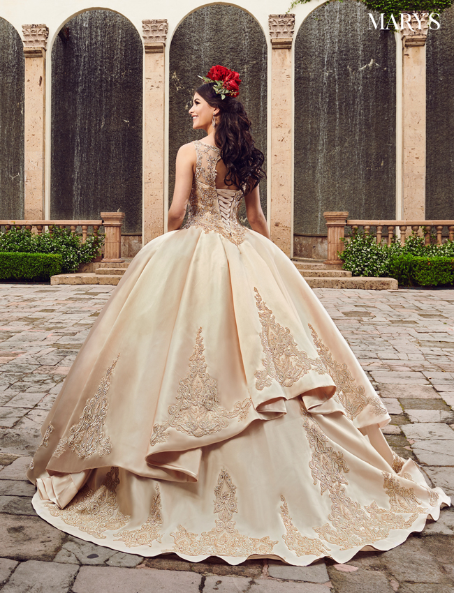 Champagne Color Marys Quinceanera Dresses - Style - MQ2081