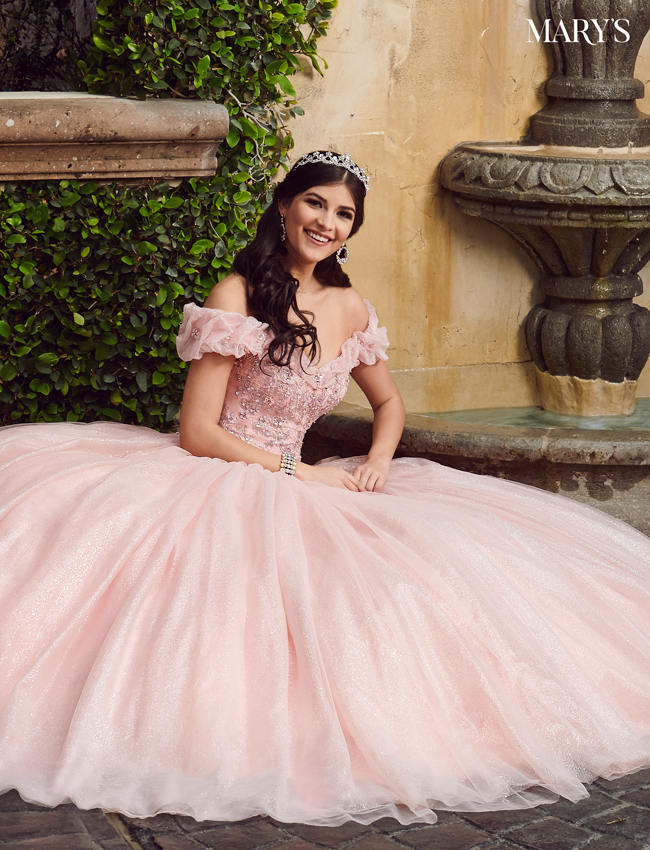 Deep Blush Color Marys Quinceanera Dresses - Style - MQ2082