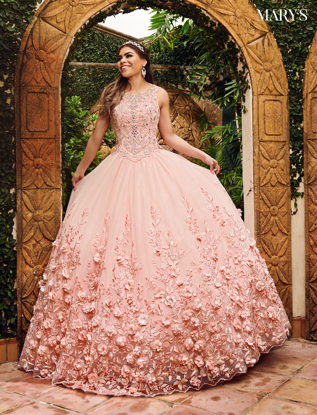 Blush Color Marys Quinceanera Dresses - Style - MQ2084