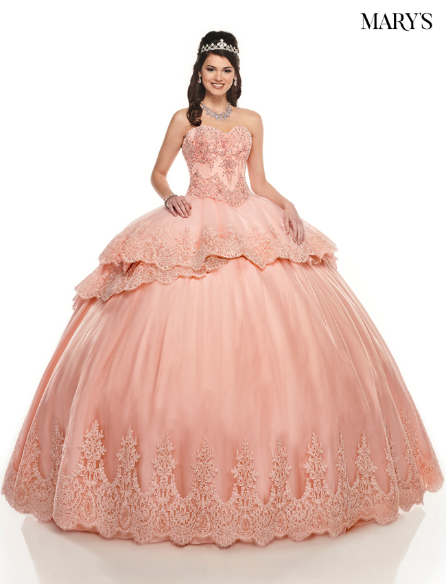 Deep Blush Color Marys Quinceanera Dresses - Style - MQ2086