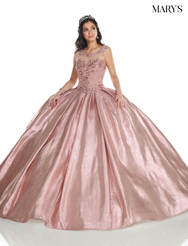 Blush Color Marys Quinceanera Dresses - Style - MQ2090
