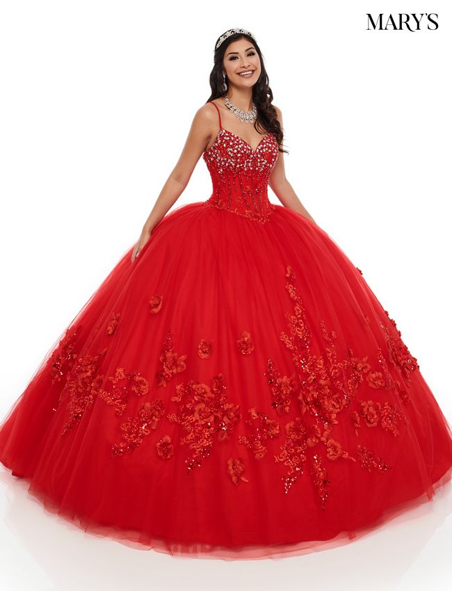 Red Color Lareina Quinceanera Dresses - Style - MQ2092